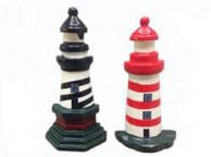 Wooden Cape Hatteras and Assateague Lighthouse Kitchen Magnets 4