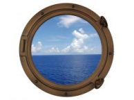 Bronzed Decorative Ship Porthole Window 15