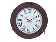 Bronzed Deluxe Class Porthole Clock 17