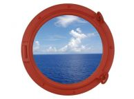 Orange Decorative Ship Porthole Window 15