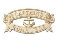 Solid Brass Captainandapos;s Quarters Sign 9