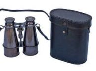 Captainandapos;s Oil-Rubbed Bronze Binoculars with Leather Case 6