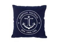 Decorative Blue Hampton Nautical with Anchor Throw Pillow 16\