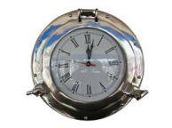 Chrome Decorative Ship Porthole Clock 12\