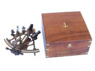 Antiqued Sextant w-Slow Motion with Rosewood Box 9