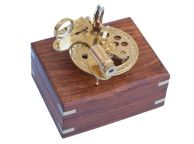 Brass Round Sextant with Rosewood Box 4