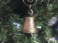 Antique Gold Cast Iron Bell Christmas Ornament 4