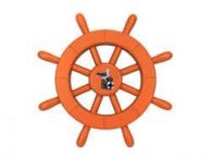 Orange Decorative Ship Wheel With Seagull 12