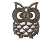 Cast Iron Owl Trivet 8