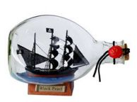 Black Pearl Pirate Ship in a Glass Bottle 7