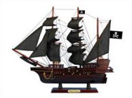 Wooden Captain Kidds Black Falcon Black Sails Pirate Ship Model 20