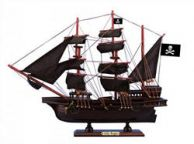 Wooden Captain Hooks Jolly Roger Black Sails Pirate Ship Model 15 from Peter Pan