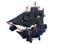 Wooden Caribbean Pirate Ship Model 7