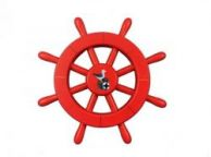 Red Decorative Ship Wheel With Seagull 12