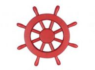 Red Decorative Ship Wheel 12\