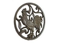 Cast Iron Rooster Trivet 8