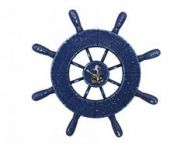 Rustic All Dark Blue Decorative Ship Wheel Seagull 9