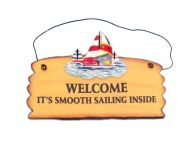 Wooden Welcome - Smooth Sailing Beach Sign 8