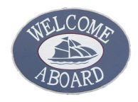 Wooden Welcome Aboard Sailboat Beach Sign 12