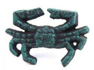 Seaworn Blue Cast Iron Crab Napkin Ring 2.5 - set of 2