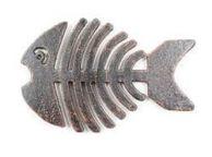 Rustic Copper Cast Iron Fish Bone Trivet 11