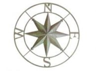 Metal Seaworn Rose Compass 27