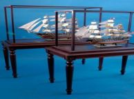 Rosewood Display Table 48 L x 23 W x 31 H and Case 48