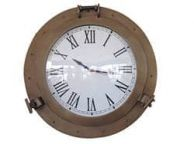 Antique Brass Decorative Ship Porthole Clock 24