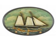 Wooden Ships Stores Sign Coat Rack 16