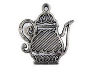 Rustic Silver Cast Iron Teapot Trivet 9