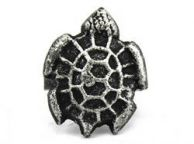 Antique Silver Cast Iron Turtle Decorative Napkin Ring 4 - set of 2