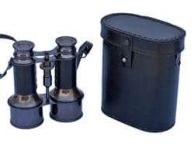 Commanders Oil-Rubbed Bronze With Leather Binoculars with Leather case 6