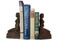 Rustic Cast Iron Mermaid Book Ends 8