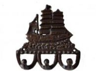 Bronze Tall Ship Key Rack 6
