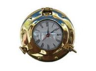 Brass Deluxe Class Porthole Clock 8\