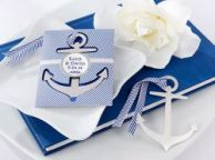 Brushed-Metal Anchor Bookmark 3.5