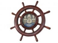 Wooden Ship Wheel Knot Clock 20