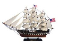 Wooden USS Constitution Tall Model Ship 24