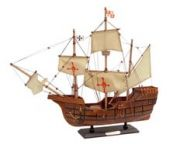 Wooden Santa Maria Tall Model Ship 20