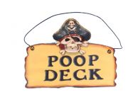 Wooden Pirate Poop Deck Sign 8