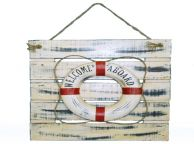 Wooden Life Ring Wall Plaque 20
