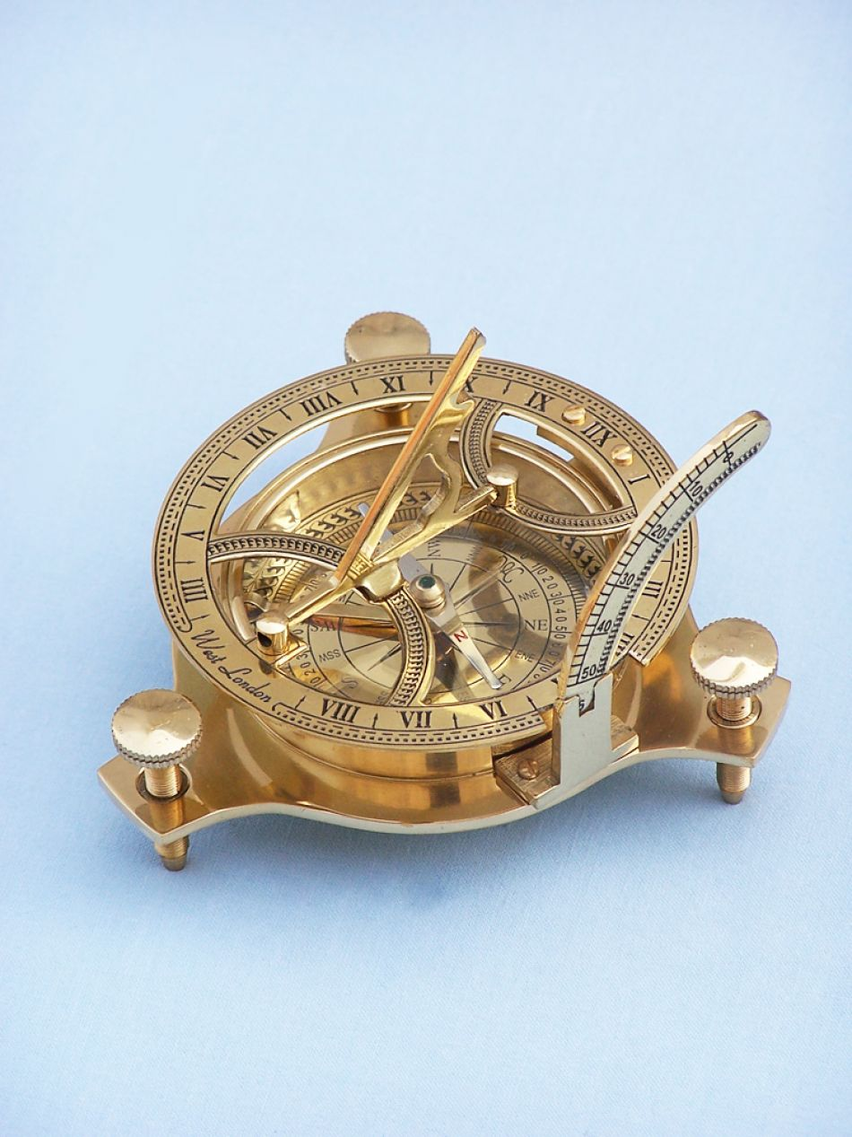 Buy Brass Triangle Sundial Compass 7 Inch Nautical