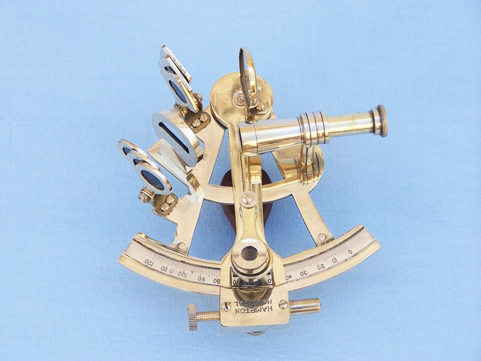 Antique Christmas Ornaments >> Buy Scout's Brass Sextant 4 Inch with Rosewood Box ...