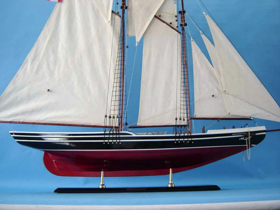 Lobster Boats For Sale >> Buy Wooden Bluenose Limited Model Sailboat 50in - Model Ships