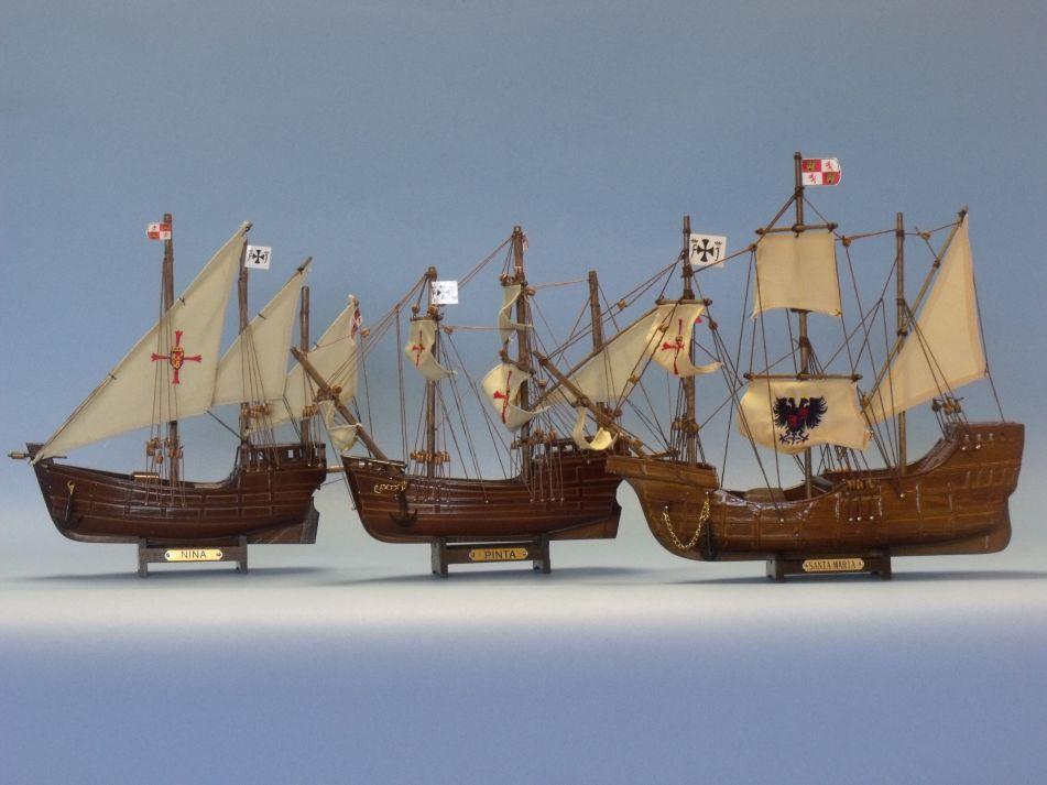 Buy Wooden Santa Maria, Nina & Pinta Model Ship Set - Model Ships