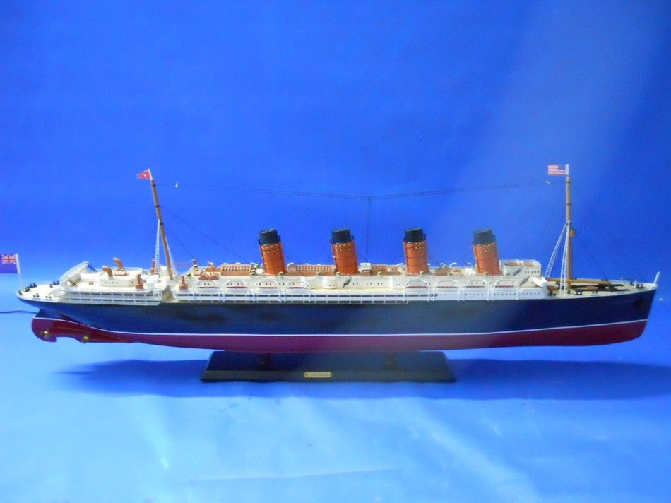 Buy RMS Lusitania Limited Model Cruise Ship 40in - Model Ships