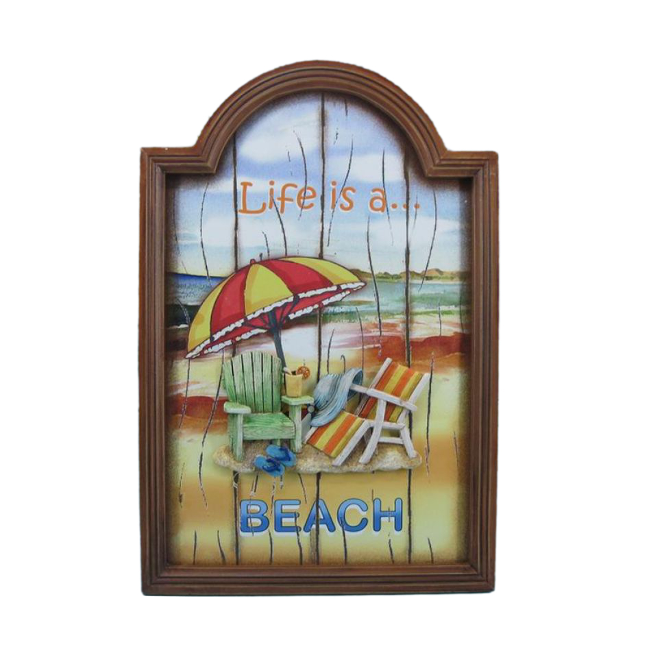 Wooden Beach Wall Decor : Buy wooden life is a beach wall plaque inch