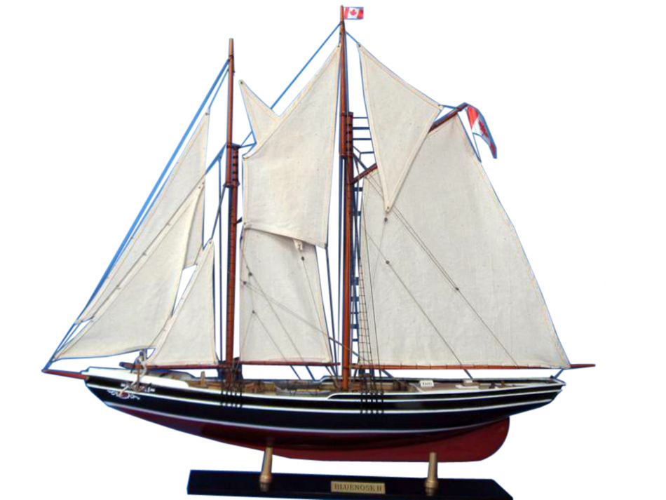 Wholesale Wooden Bluenose 2 Limited Model Sailboat