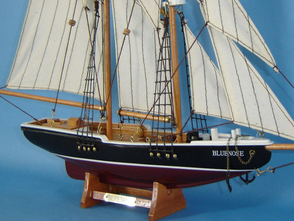 Wooden Sailboats For Sale >> Buy Wooden Bluenose Model Sailboat Decoration 17in - Model Ships
