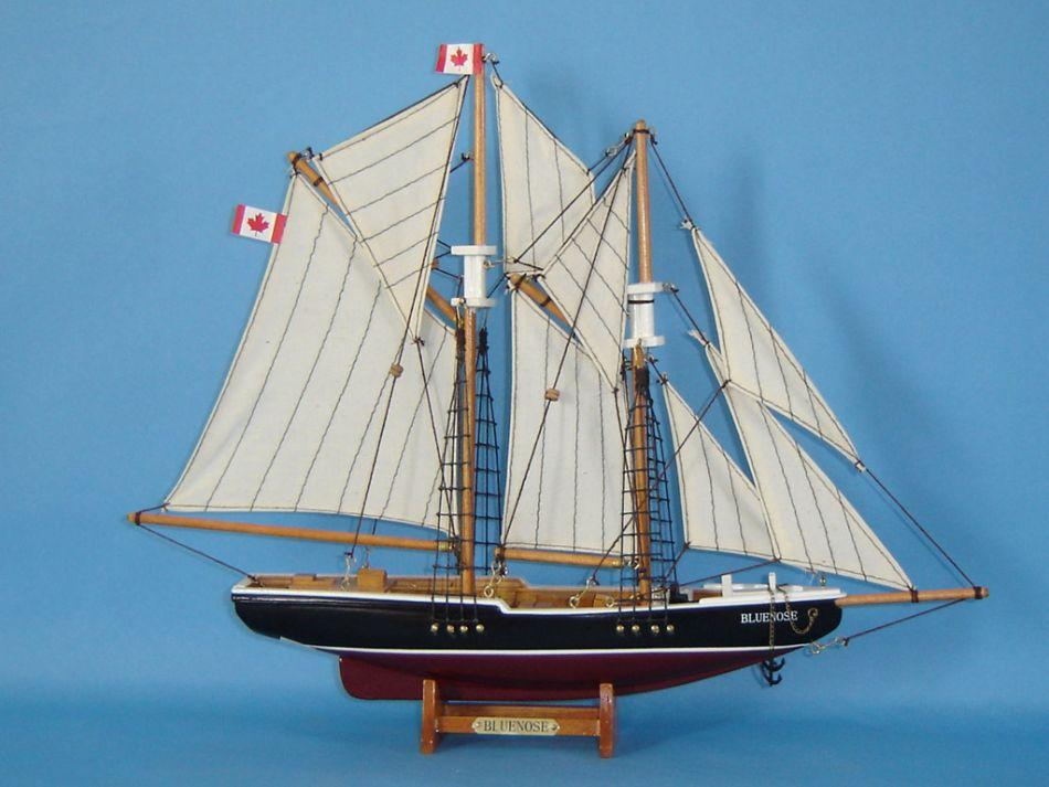 Buy Wooden Bluenose Model Sailboat Decoration 17in - Model Ships